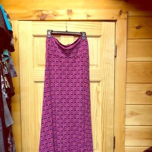 Lularoe maxi skirt, excellent pre owned